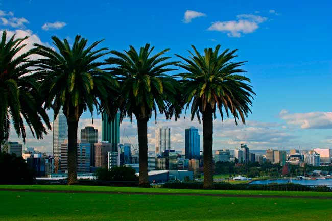 Perth is the sunniest capital in Australia, it has a Mediterranean climate.